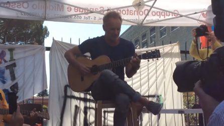 Figline Valdarno (Firenze), arriva Sting e canta per gli operai che hanno perso il lavoro