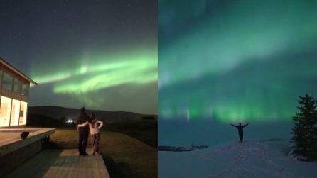 È uno dei posti più spettacolari del mondo, dove puoi guardare l'aurora boreale da una prospettiva unica
