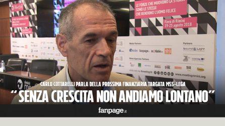 """Cottarelli: """"Spero che il governo non approvi una legge di bilancio insensata o torneremo in recessione"""""""