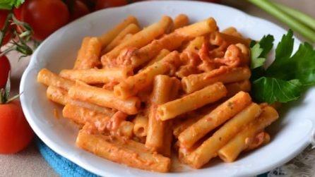 Candele con pomodorini e panna: due ingredienti per un piatto veloce e delizioso