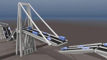 Ponte Morandi Genova, uno studio di architettura mostra le probabili simulazioni del crollo