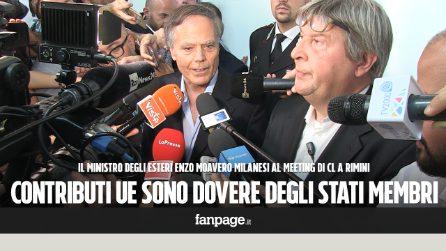 """Ministro Moavero Milanesi: """"Serve politica Ue sui flussi migratori, altrimenti non è un'Unione"""""""