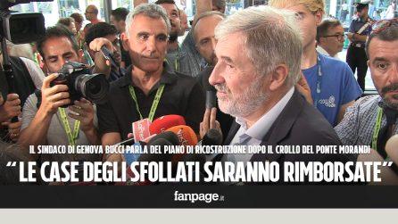 """Crollo ponte Genova, sindaco Bucci: """"Difficile che gli sfollati possano rientrare nelle loro case"""""""