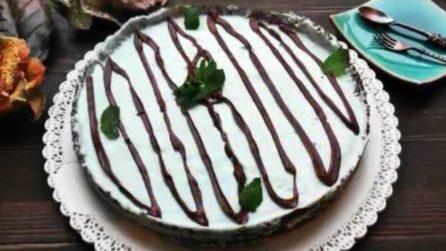 Torta senza cottura con cioccolato e menta: un gusto fresco e goloso