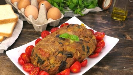 Veggie meatloaf: no meat, easy and quick to make!