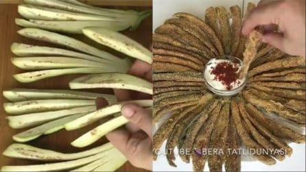 Snack di melanzane fritti: ideale per antipasti e aperitivi