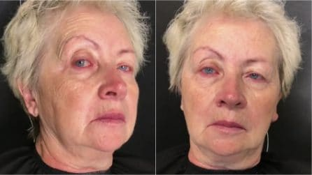 In pochi minuti ringiovanisce grazie al make up: la trasformazione è straordinaria