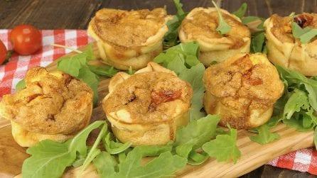 Tortini di pasta sfoglia e frittata: l'antipasto perfetto per una cena tra amici!
