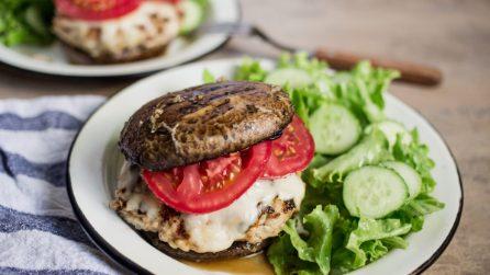 Burger di funghi: l'alternativa al solito pane!