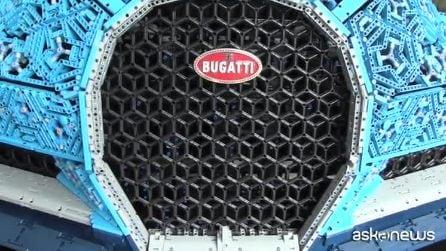A Monza anteprima per la Lego Bugatti Chiron che si può guidare