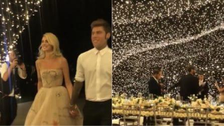 """Matrimonio Ferragni-Fedez: l'arrivo degli sposi alla cena. La location sotto un tappeto di """"stelle"""""""