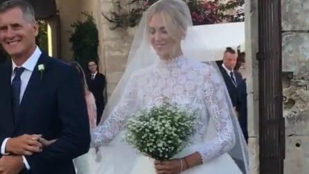 Matrimonio Ferragnez, Chiara Ferragni verso l'altare: le immagini ravvicinate della sposa