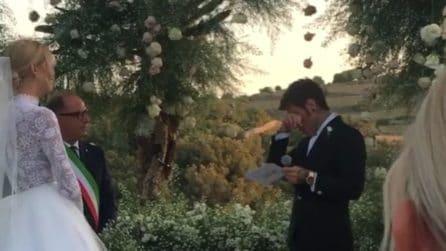 Ferragnez, Fedez commosso si ferma mentre legge le sue promesse di matrimonio