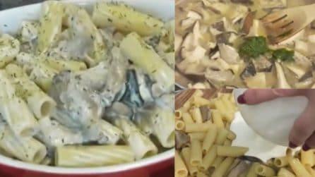 Tortiglioni funghi e panna: il primo piatto semplice ma dal sapore unico