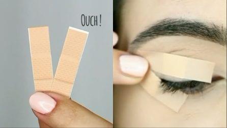 Applica dei cerotti sulla palpebra: il trucchetto per un make up perfetto