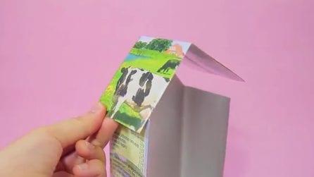 Come riciclare il contenitore del latte in modo creativo: l'idea farà impazzire i più piccoli