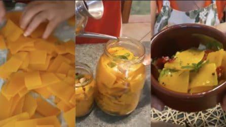 La ricetta per una saporita zucca sott'olio: il contorno sempre pronto