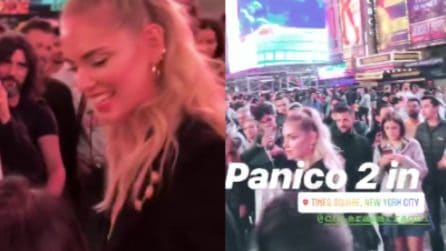Delirio a Times Square per Chiara Ferragni: i fan sono pazzi di lei
