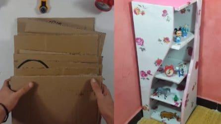 Come realizzare un mobile fai da te utilizzando scatole di cartone