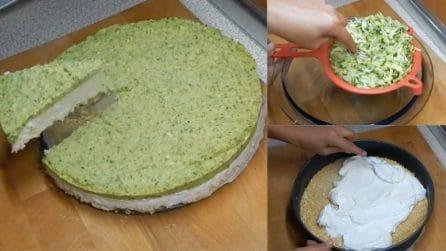 Cheesecake salata con con pesto di zucchine: la ricetta fantasiosa da provare