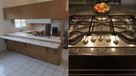 La vecchia cucina non ha carattere, papà la rinnova con le sue mani: il risultato è meraviglioso