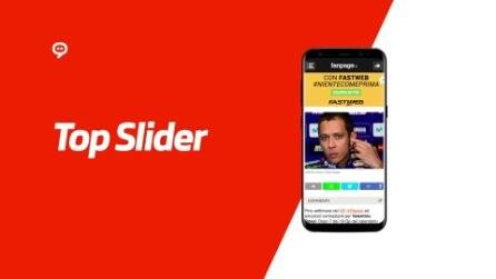Top Slider mobile realizzato per Fastweb