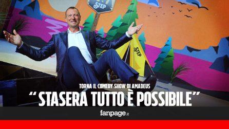 """Stasera tutto è possibile, Amadeus: """"Nuovi giochi e stanze. Fabrizio Frizzi? Il dDolore non passa mai"""""""