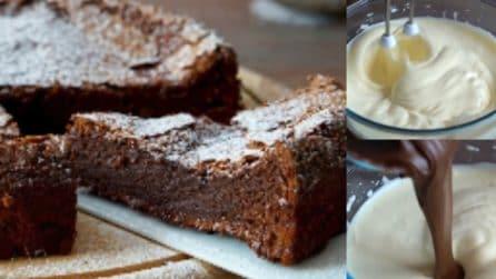 Torta al cioccolato con due ingredienti: il dessert veloce e golosissimo