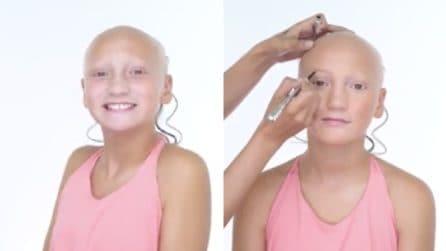 Questa bambina è affetta da alopecia, la make up artist realizza il suo desiderio: un esempio di forza incredibile