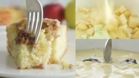 Torta di mele con sorpresa: soffice, genuina e senza burro