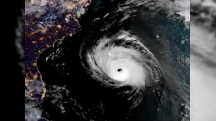 L'enorme vortice visto dallo spazio: il devastante uragano Florence
