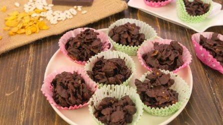 Chocolate desert roses: ready in just 5 minutes!