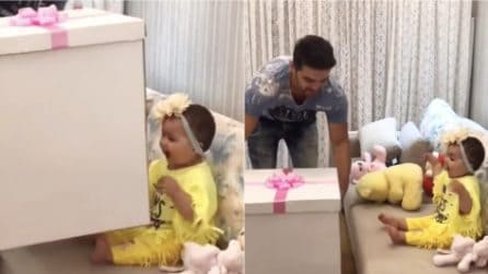 Papà torna a casa con un'enorme scatola: la sorpresa dolcissima per la sua principessa