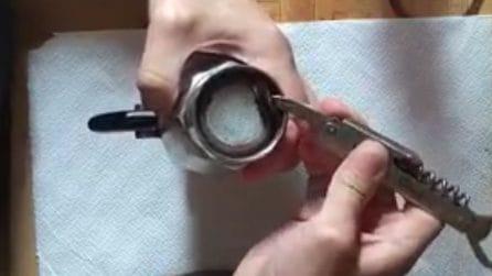 Come pulire il filtro della moka: un trucchetto efficace