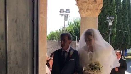 Il matrimonio di Teresanna Pugliese e Giovanni Gentile: l'ingresso in chiesa della sposa
