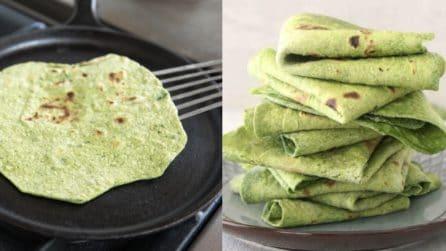 Tortillas di spinaci: una ricetta sana e buona da servire ai tuoi ospiti
