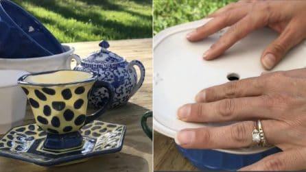 Come riutilizzare un vecchio sevizio da tè: il riciclo creativo per la tua casa