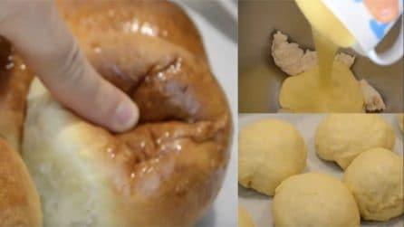 Panini soffici con crema: ideali sia per merende che dessert