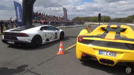 Lamborghini Huracan vs Ferrari 458 Spider: la super sfida tra supercar