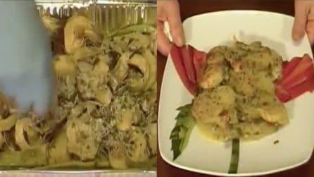La ricetta per fare tortino di patate e carciofi al forno