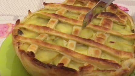 Torta cremosa patate e carciofi: una ricetta facile e veloce