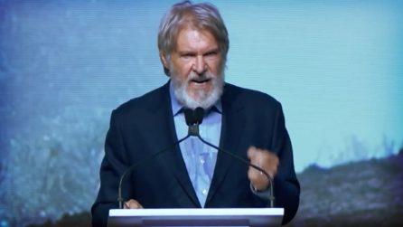 """""""Diamo un calcio in culo a quei mostri!"""" Il discorso da brividi di Harrison Ford contro i potenti"""