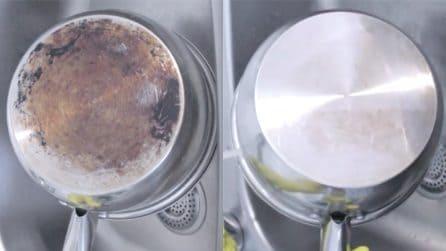 Come pulire il fondo bruciato delle pentole: un trucchetto naturale e perfetto
