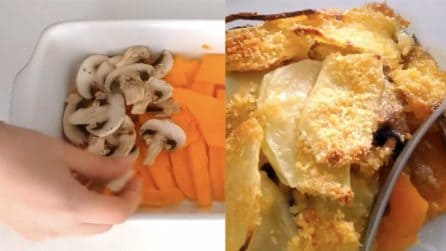 Sformato zucca, funghi e patate: una preparazione semplice ma gustosa