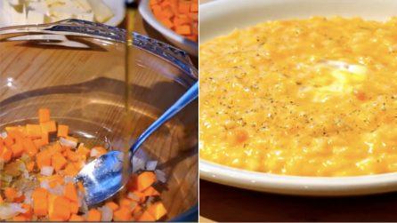 Risotto zucca e formaggio erborinato: cremoso e facile da preparare