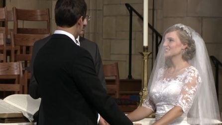 """""""Ora puoi baciarla"""", ma la reazione della sposa lascia tutti di sasso"""