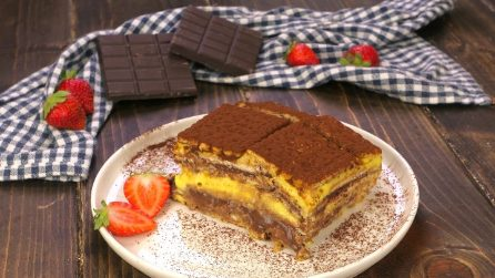 Layered cake: easy, creamy and no baking required!