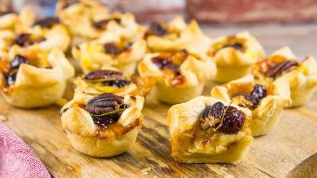 Brie Cranberry Pecan Bites