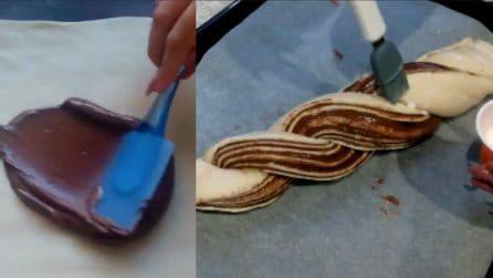 Treccia al cioccolato soffice e golosa: una gioia per il palato