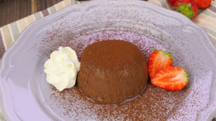 Quick chocolate pudding: the perfect dessert to prepare when you don't have much time!